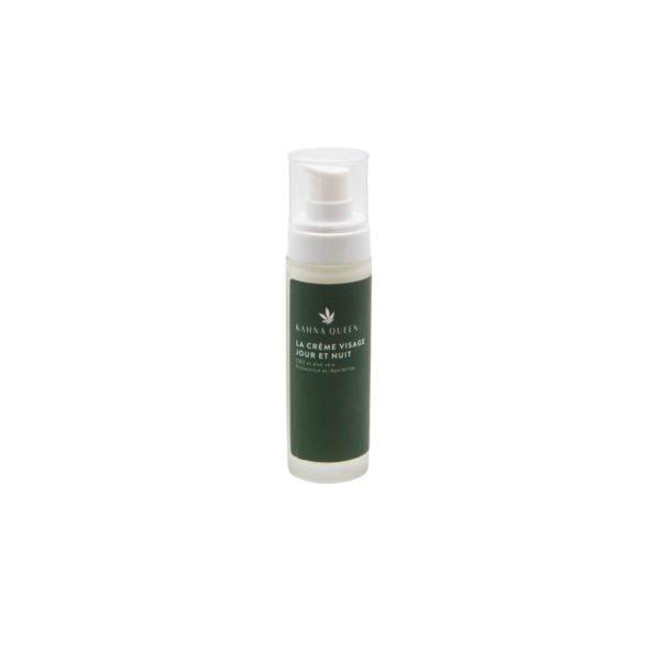Notre crème visage jour & nuit est une combinaison unique d'un extrait de chanvre suisse et de l'aloe Vera qui prend naturellement soin de la peau et agit contre les influences environnementales nocives telles que les rayons UV, les fines particules de poussières ou le stress. Nous avons combiné les ingrédients actifs des deux plantes avec du Hyaluronate de sodium hydratant pour stimuler la production de collagène et de vitamine E afin de garder une peau éclatante. La crème visage jour & nuit à un effet régénérant pendant la nuit et protecteur pendant la journée.